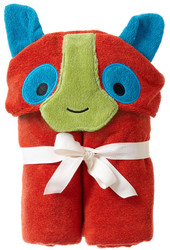 Breganwood Organics Kids Hooded Towel - Rainforest Collection - Happy Lemur