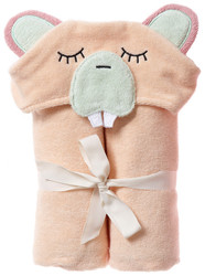 Breganwood Organics Kids Hooded Towel - Woodland Collection - Busy Beaver