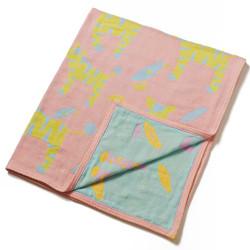 Breganwood Organics Muslin Baby Blanket - Jungle Collection - Pink Zebras