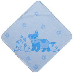 Breganwood Organics Baby & Toddler Hooded Towel - Prairie Collection - Blue Ferret