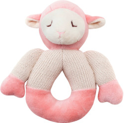 My Natural Lamb Knitted Teether - Pink