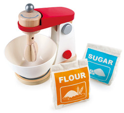 hape mix and bake wooden pretend play blender