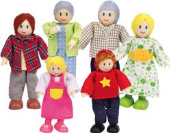 Hape Dolls Caucasian Family - Set of 6