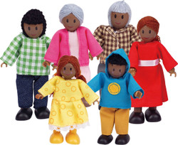 Hape Dolls African Family - Set of 6