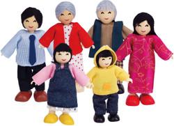 Hape Dolls Asian Family  - Set of 6