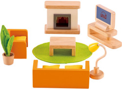 Hape All Seasons Doll Furniture - Family Media Room Set