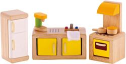 Hape All Seasons Doll Furniture - Modern Kitchen Set