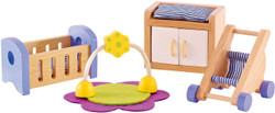 Hape All Seasons Doll Furniture - Baby Room Set