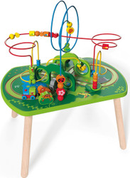 Hape Jungle Play & Train Activity Table Toddler Train Toys