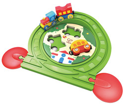 hape train puzzle toy