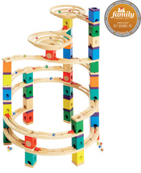 Quadrilla The Cyclone Set - Wooden Marble Track Tower