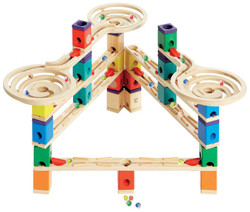 Quadrilla Vertigo Set - Wooden Marble Track Tower