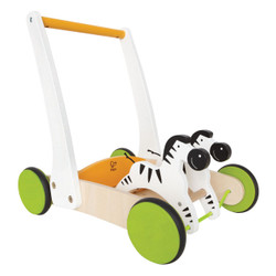 Hape Galloping Zebra Push Cart - Walker