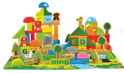 Hape Jungle Blocks Play Set - 100 Pcs