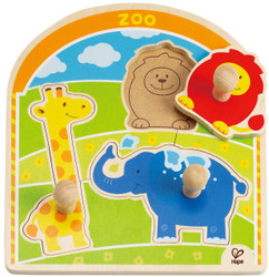 Hape Zoo Animals Knob Puzzle