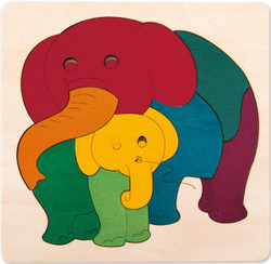 George Luck Elephant and Baby Puzzle