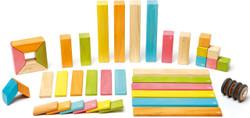 Tegu Magnetic Wooden Block - 42 Piece Tints Set