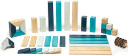 Tegu Magnetic Wooden Block - 42 Piece Blues Set