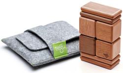 Tegu Pocket Pouch Magnetic Travel Blocks  - Mahogany