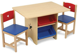 Kidkraft Star Table & 2 Chair Set - Primary