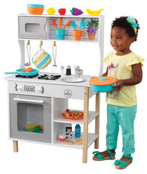 KidKraft All Time Play Kitchen & Accessories Kid Playing