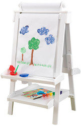 KidKraft Adjustable Wooden Easel - White