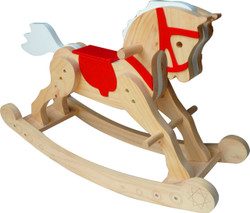Qtoys Wooden Rocking Horse