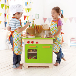 hape my giant kids wooden green kitchen