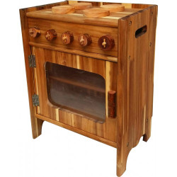 qtoys natural wooden stove Set