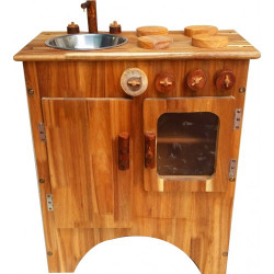Qtoys Natural Wooden Toy Kitchen
