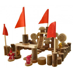 Qtoys Tree Castle Blocks - 75 Pieces set