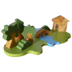 Qtoys Outdoor Wooden Playset