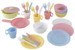 kidkraft cookware set pastel