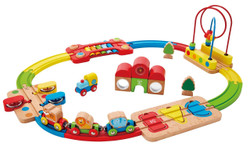 Hape Rainbow Puzzle Railway Set