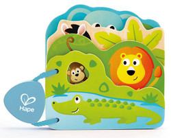 Hape Baby's Wild Animal Book Set