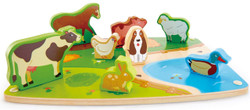 Hape Farm Animal Puzzle And Play