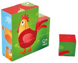Hape Farm Animal Block Puzzle Set