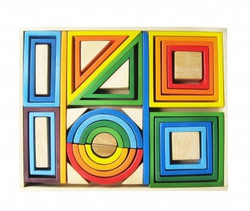 Qtoys Rainbow Nesting Blocks