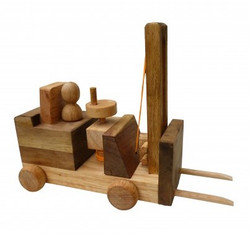 Qtoys Wooden Forklift Set