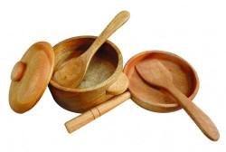 Qtoys Mahogany Pots & Pan Set
