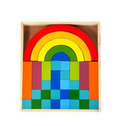 Qtoys Rainbow Building Blocks Set