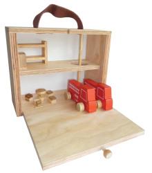 Qtoys Portable Fire Station Set