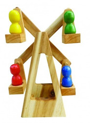Qtoys Wooden Ferris Wheel Toy Set