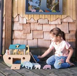 wooden noahs ark toy