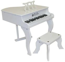 Schoenhut White Baby Grand Piano