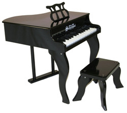 Schoenhut Black Baby Grand Piano Set
