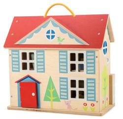 Tenderleaf Doll Cottage with Furniture Set