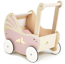 Tenderleaf Sweetiepie Wooden Dolls Pram