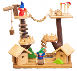 qtoys multi level treehouse