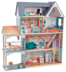 Kidkraft Dahlia Mansion Dollhouse with EZ Kraft Assembly Set